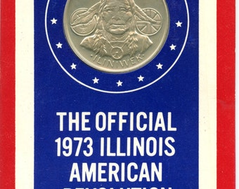 1973 Illinois American Revolution Bicentennial Sterling Silver Medallion