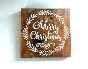 Merry Christmas sign, christmas decor, rustic decor, christmas gift