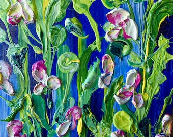 WONDERS OF NATURE, 12x12   Abstract Impasto Floral