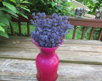 FRESH LAVENDER             BRIDAL Lavender Bouquet            Vase Lavender