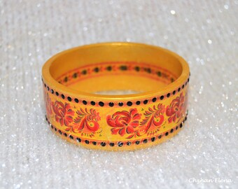 """the wooden bracelet """"Khokhloma"""""""