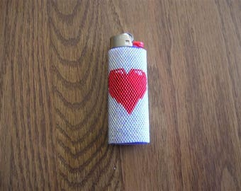 Hearts Big Lighter Cover