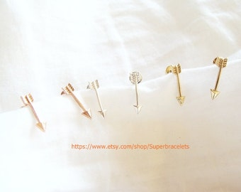 Arrow earrings, gold arrow earrings, silver arrow earrings, rose gold arrow earrings, arrow, earrings, earring, arrow studs