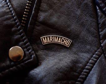 Marimacho Pin | LGBTQ+ Pin | Latinx, spanglish, pride pin, gay lapel pin, lgbtq pin, masculine, tomboy, pride, boi, androgyny