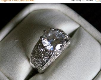 ON SALE Splendid CZ Silver Ring