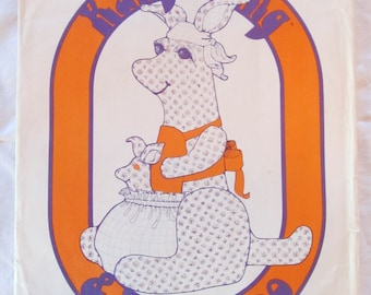 vintage KANGARANG & BOOMAROO --The San Francisco Pattern Company craft pattern (1980)