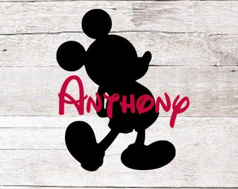 Mickey Mouse with name decal | Mickey Decal | Walt Disney Name Decal | Disney Decal | Disney Yeti | Yeti Decal | Disney Name Decal |