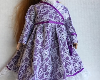 """Satin dress fits 18"""" dolls such as American girl"""
