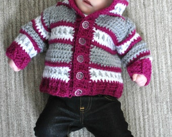 Dylan Infant Cardigan Crochet digital Pattern pdf