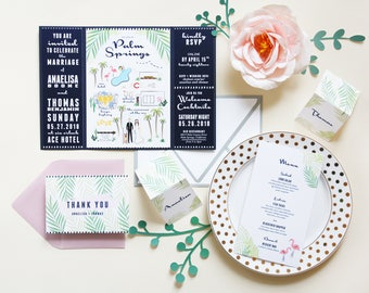 Palm Springs Wedding Invitation Suite