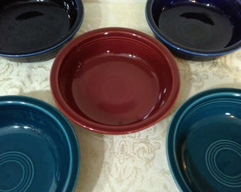 "Homer Laughlin Fiesta Coupe Soup Bowl 7"" - Set of 5"