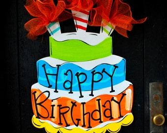 Birthday Party Decorations | Birthday Party Door Hanger | Birthday Wreath | Happy Birthday Banner | Happy Birthday Sign | Kids Birthday