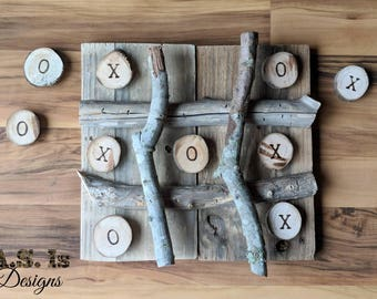 Reclaimed Wood Tic Tac Toe, Handcrafted Tic Tac Toe, Board Game, Wedding Game, Outdoor Game, Party Game, Tic Tac Toe Bar Game, Farmhouse