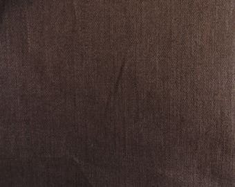 Coupon fabric coated linen chocolate brown 50 cm x 45 cm