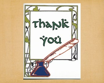 """LOTR Thank You Card, Lord of the Rings, Hobbit, Tolkien, Blank Note Card, Greeting Card, Stationery, A2, 5.5"""" x 4.25"""""""