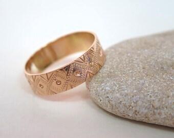 Gold Wedding Ring - Wedding Band - Gold Wedding Band - 14k Gold Ring - Handmade Ring - Wedding Ring - Promise Ring - Promise Gold Ring