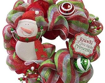 "Snowman 26"" Deco Wreath"