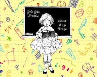 School Days Digital Stamps