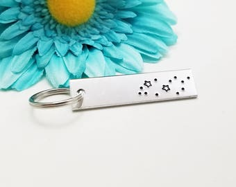 Pisces Keychain - Custom Keychain - Constellation Keychain - Rectangle Keychain - Horoscope Keychain - Astrology Keychain - Zodiac Sign