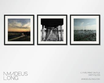 The Beach Collection: Set Of 3 Beach Prints, Beach Print Set, Beach Photography, Beach Wall Art, Beach Art, Print Set, Beach Wall Art Set