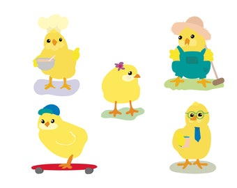 Baby Chicks, Peeps, Baby Peeps. (No print. Downloadable only)