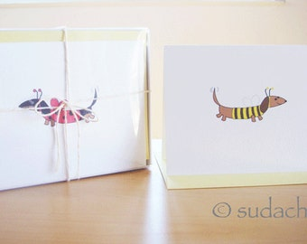 Assorted Dachshund Note Cards With Stationery Box (Set of 10)