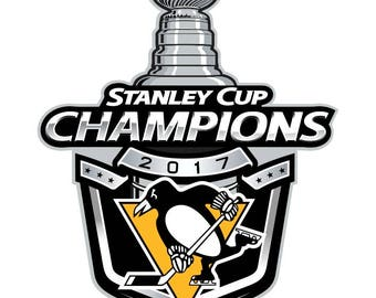 Pittsburgh Penguins 2017 Stanley Cup Champions Decal / Sticker Die cut