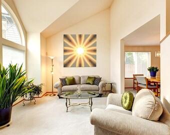Sun Mandala Art ~ Canvas Print ~ Modern Wall Art ~ Feng Shui Fire Element ~ Interior Decor ~ Home Accessories ~ Nature Photography Australia