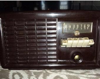 Antique quartiers Airlines tube radio modèle 15br-1536b fonctionne