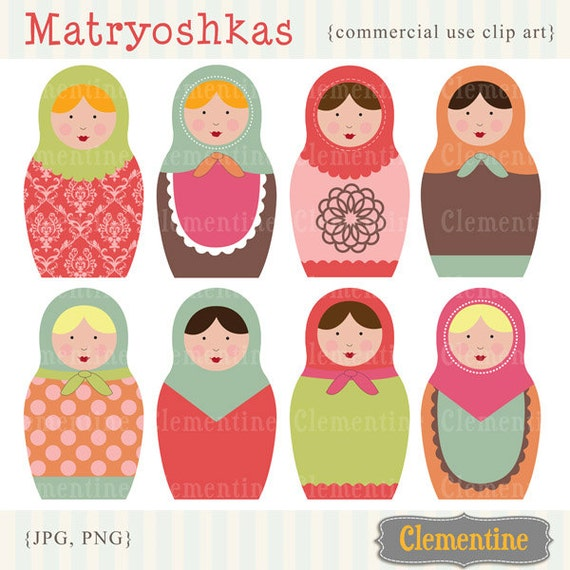 russian dolls images matryoshka images royalty free clip rh etsy com free commercial use christmas clipart free commercial use christmas clipart
