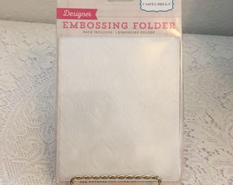 embossing folder, Carta Bella, Doilies, manual die cut machine, sizzix big kick
