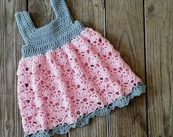 Falling Fans Dress Crochet Pattern *PDF FILE ONLY* Instant Download