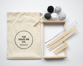 Weaving Loom Kit + Monochrome Wools