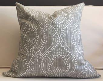 Pillow Cover, Grey Ikat Pillow Cover - SEBASTIAN