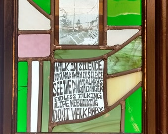 """Stained Glass Panel - """"Atmosphere"""" - Joy Division"""
