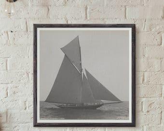 Vintage Sailboat Coastal Decor, Sailboat Poster, Sailboat Decor, Boys Nursery Decor, Sailing Boys Room, Sailboat Print Decor, Nursery Decor