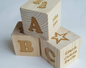 Personalised Wooden Building Block