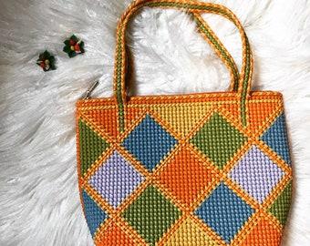 60s vintage woven purse
