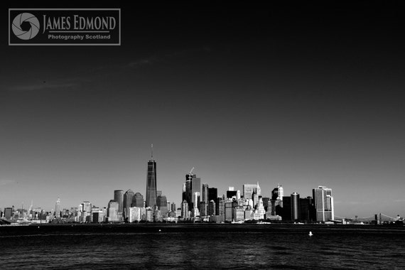 New York Landscape, Travel, Monochrome, NYC Print, NYC photography, Landscape, Cityscape, Monochrome, black, white, wall art, wall print