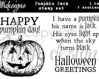 Pumpkin Jack Digital Stamp Set