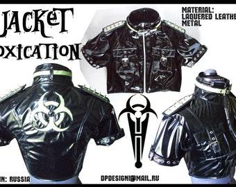 Cyber Goth PVC short Jacket
