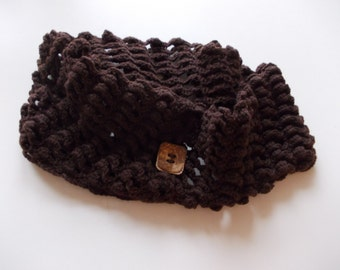 BROWN wool NECK WARMER
