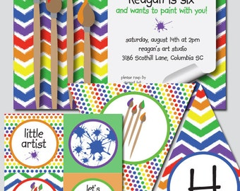 Paint Party Invitation and Decoration Printable
