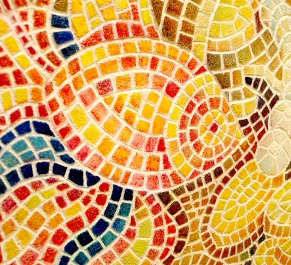 Modern Mosaic Art Wall Pattern - Wall Art Design - leftofcentrist.com