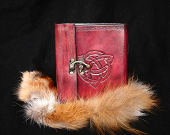 Celtic leather book with clasp.