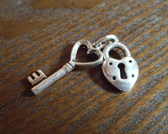 Sterling Silver Lock & Key Charm