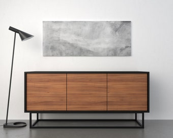 Midcentury modern sideboard - walnut and black