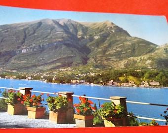 Vintage Postcard LAGO DI COMO, Italy Lake Como Posted Airmail Italy to Argentina