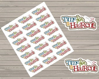 Haircut Planner Stickers, Hair Appointment Stickers, To Do Stickers, Reminders Stickers, Fits Erin Condren Planner, Stickers