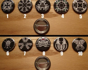 """Organic Swarm 1.25 """"Graphic Button Set (10 Buttons)"""